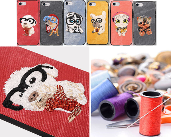 Embroidered Phone Cover for Dog Lovers - Aviator Dog