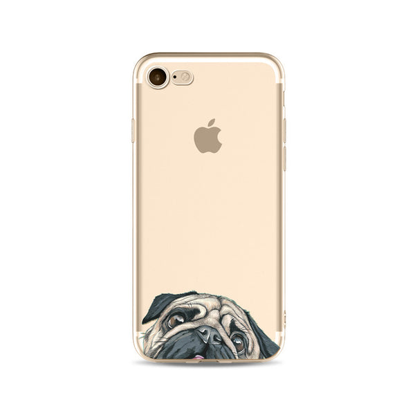 Illustrated Phone Cover for Dog Lovers - Pug