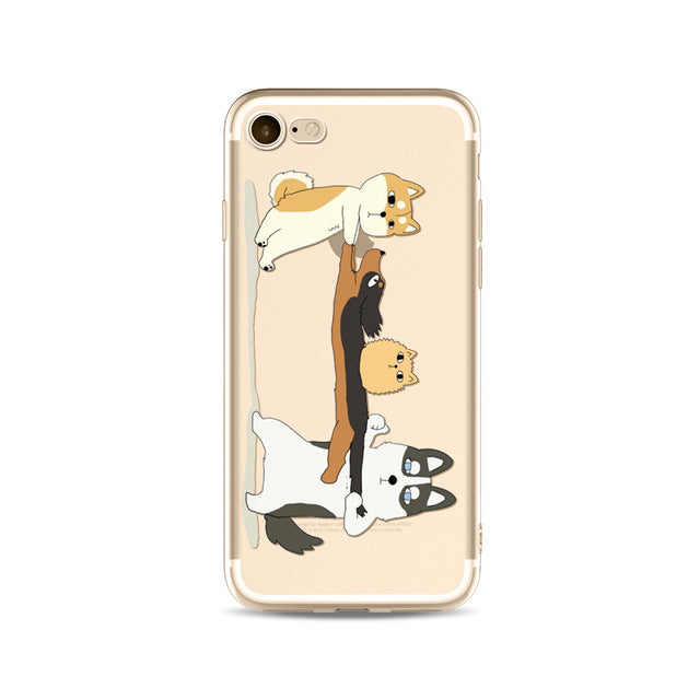 Illustrated Phone Cover for Dog Lovers - Huskies & Friends