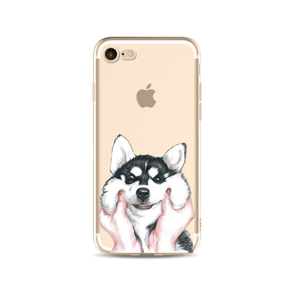 Illustrated Phone Cover for Dog Lovers - Pinched Husky