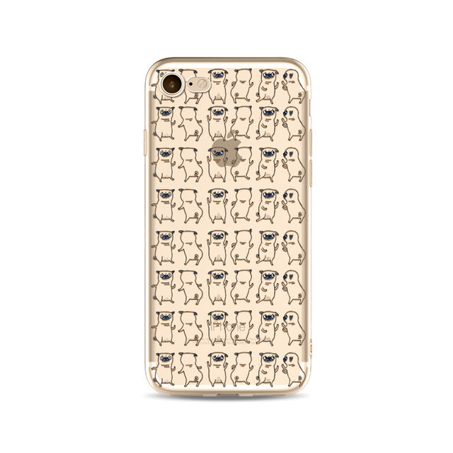 Illustrated Phone Cover for Dog Lovers - Pug Boogie