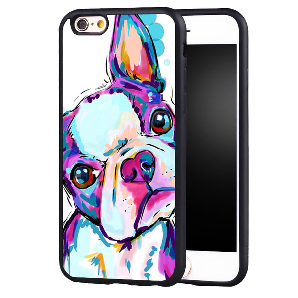 Artsy Boston Terrier Dog iPhone Cover