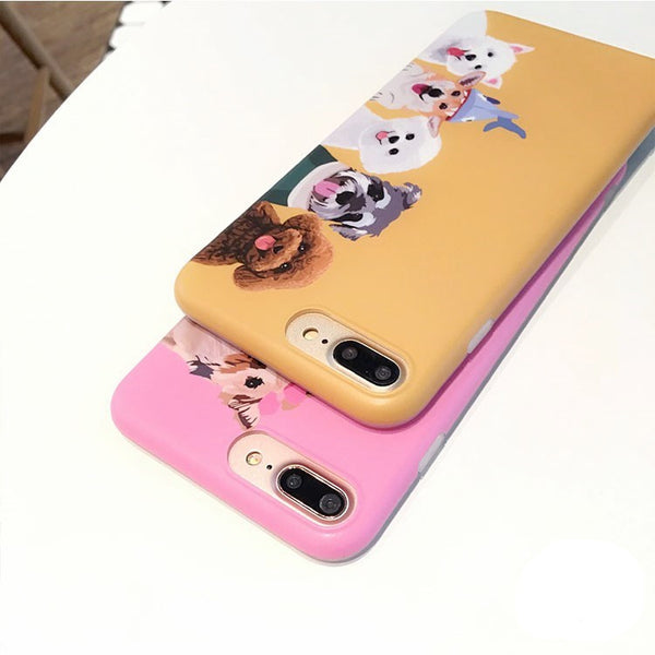 Happy Dog Family iPhone Case *2 Colors*
