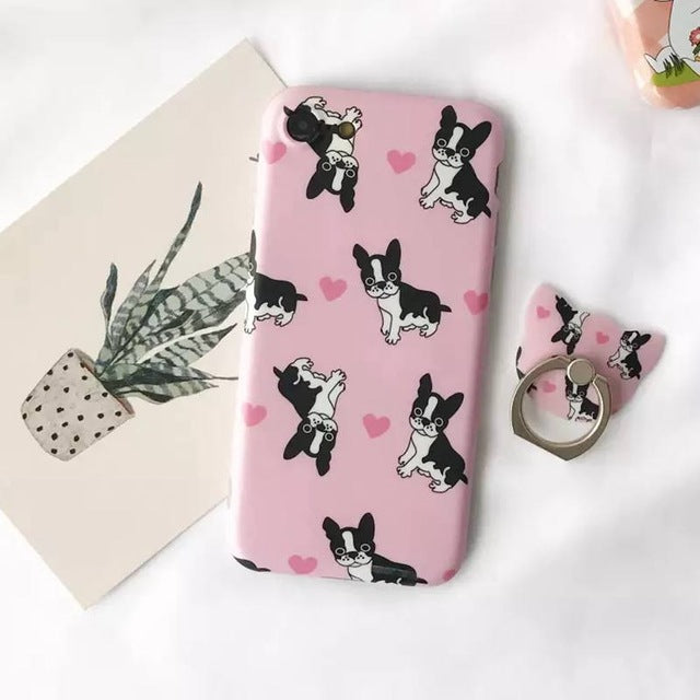 Couple Phone Covers for Dog Lovers - French Bulldog *2 Colors*