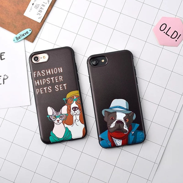 Couple Phone Covers for Dog Lovers - Hipster Dogs *2 Variants*