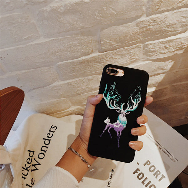 Embroidered Phone Cover - Majestic Deer