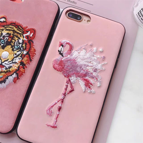 Embroidered Phone Cover - Artistic Tiger