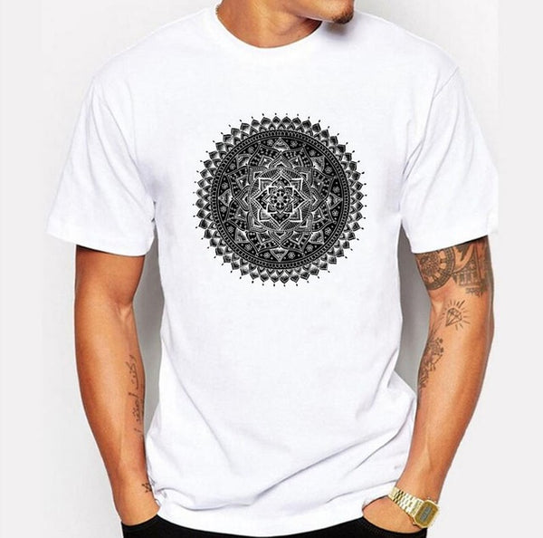 B&W Mandala Tees for Every Men who Need Peaceful