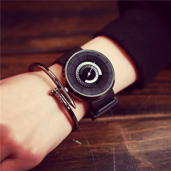 Versatile Double Circle Modern Watch