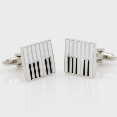Fashionable Cufflinks for Men - Piano Keys