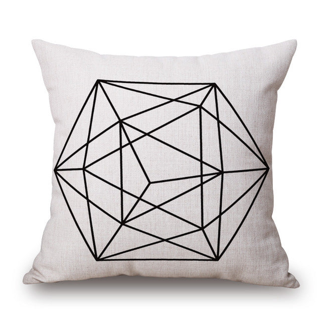 Geometric Line Art Modern Cushion Covers *6 Variants*