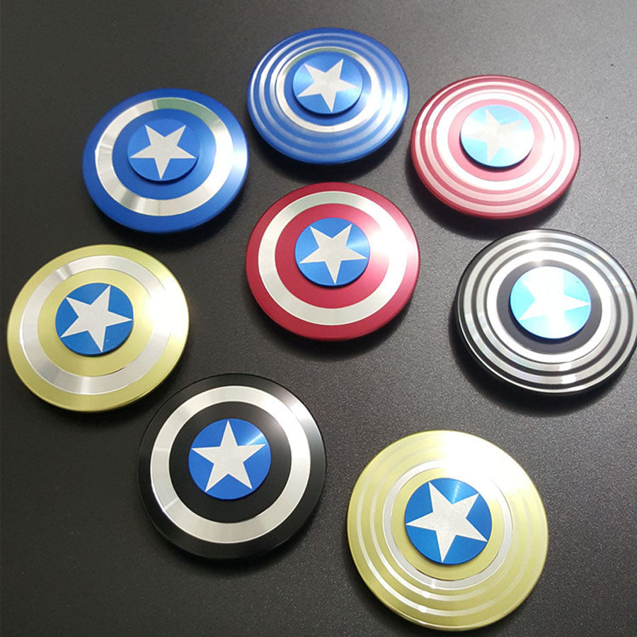 captain america shield fidget spinner 4 colors secret gifts for men
