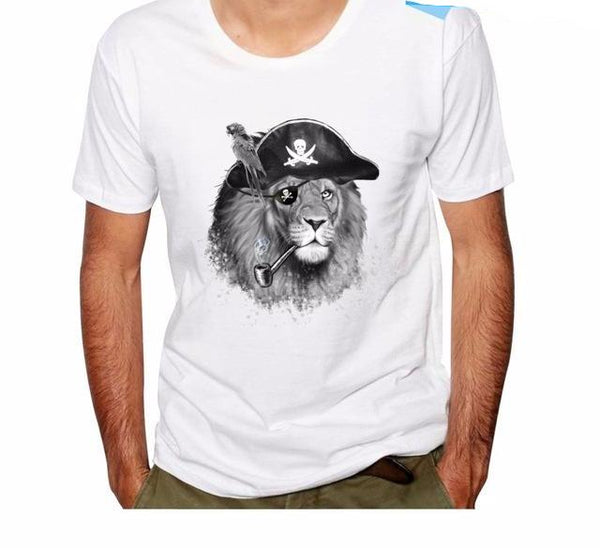 Fashion Graphic Tee -  Lion Pirate of the Lost Sea *2 Colors*