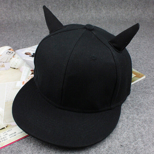 Devil Ears Black Dad Hats