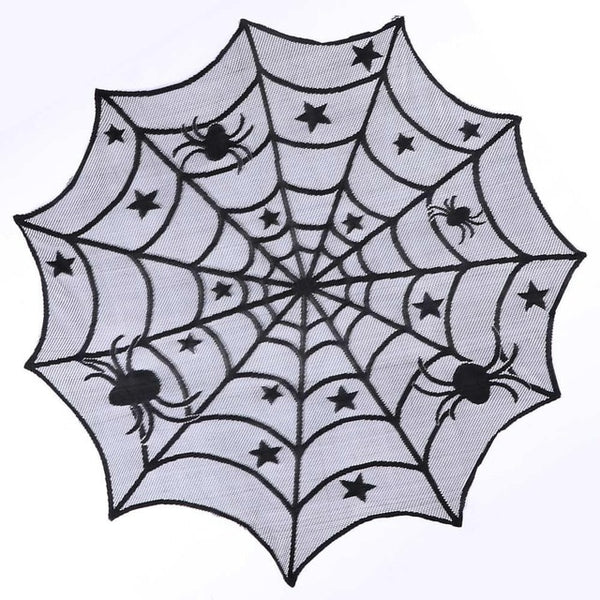 Beautiful Spiderweb Table Cloth for Halloween House Decoration