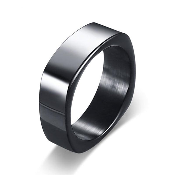 Stylish Modern Black Square Ring for Men *3 Colors*