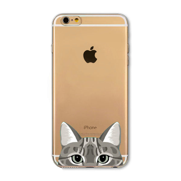 Peek-a-boo Phone Cover for Cat Lovers - Li Hua Cat