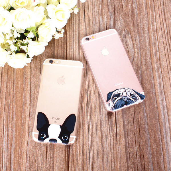 Peek-a-boo Phone Cover for Dog Lovers - French Bulldog 2