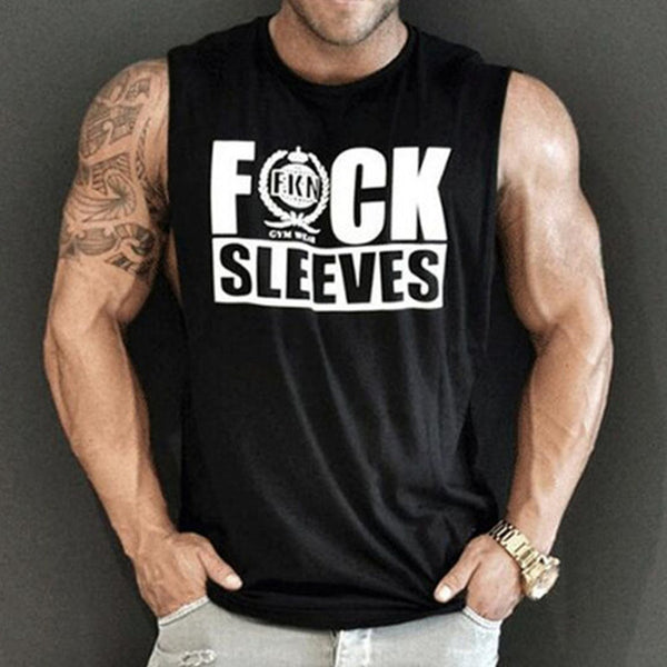 Fuck Sleeves Basic Fitness Tank Tops for Men *Black or White*