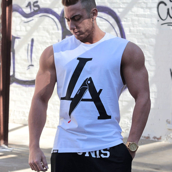 LA Basic Fitness Tank Tops for Men