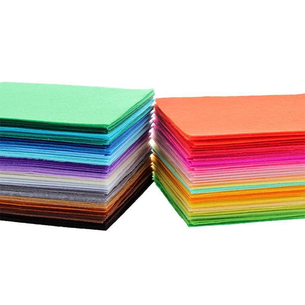 Rainbow Series Polyester Felt Fabric 1mm *Mix 40 Colors *15x15cm*