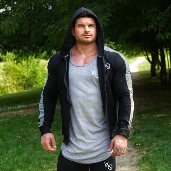 Bold Gray Line Fitness Sweatpants for Men