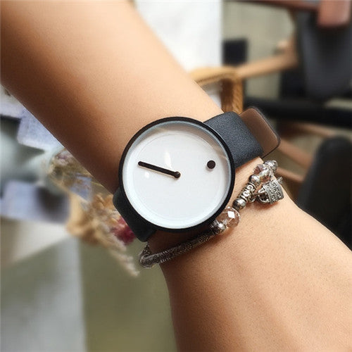 Minimalist Couple B&W Wristwatches
