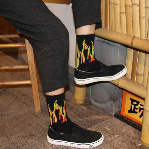 I'm On Fire #3 Short Socks for Men *4 Variants*