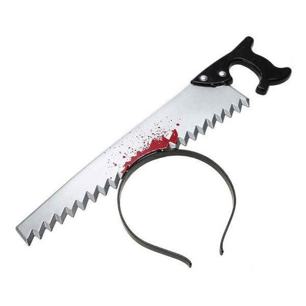 Torture Your Head Horror Headband with Saw for Halloween Cosplay Decoration
