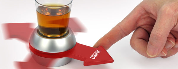 The Coolest Spin and Drink Shot Glass Indoor Game Tool