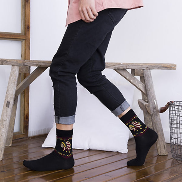 The Indian Chief Skateboard Socks For Handsome Man