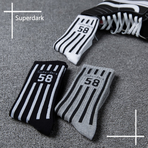 Superdark Cool Stripe Street Style Hip-hop Crew Socks