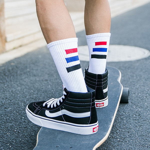 Swanky Short Stripe Skateboard Socks for Active Men
