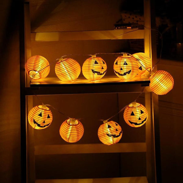 Mini Pumpkin LED Light for Halloween Home Decoration *10 light/set*