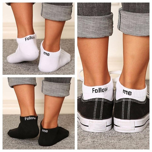 Follow Me Trendy Socks *Black or White*