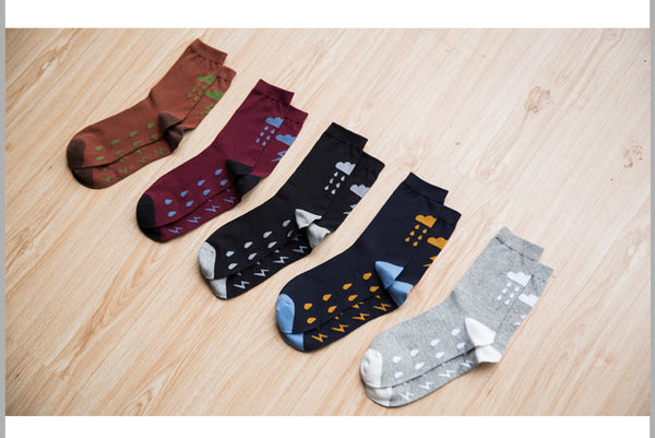 Striking Designs Thunder Rain Men's Casual Sweat Sock *5Colors*