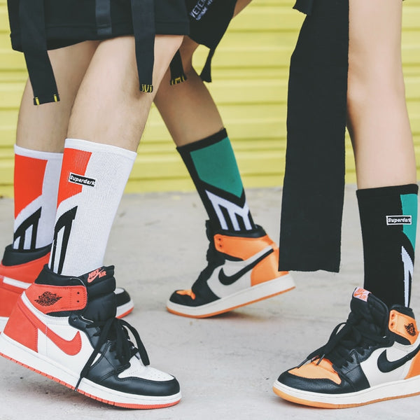 Keep The Pace With Hip-Hop Style Cotton Tube Socks