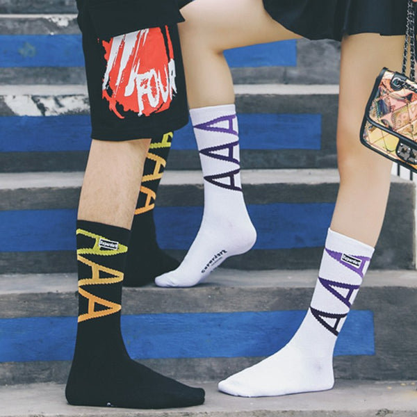 Legendary AAA Fashionable Skateboard Socks for Stylish Men
