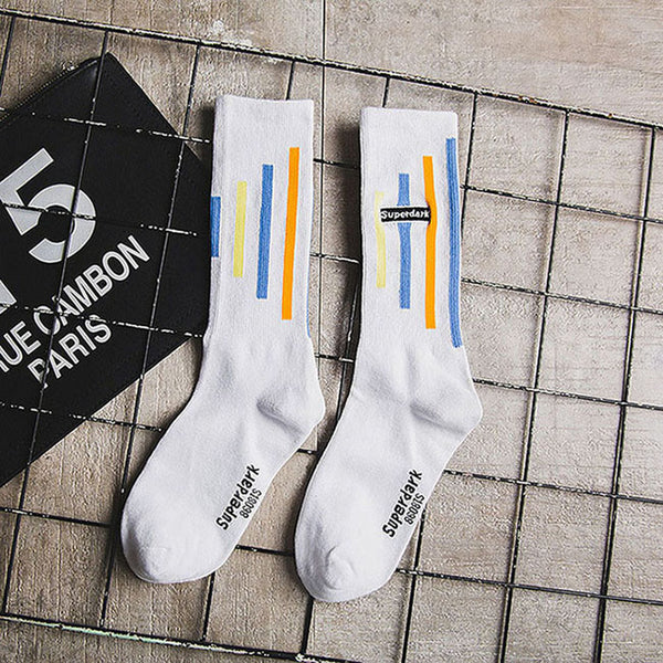 Fancy Stripe Hip-hop Socks for Stylish Buddy - Fashion Socks for Men