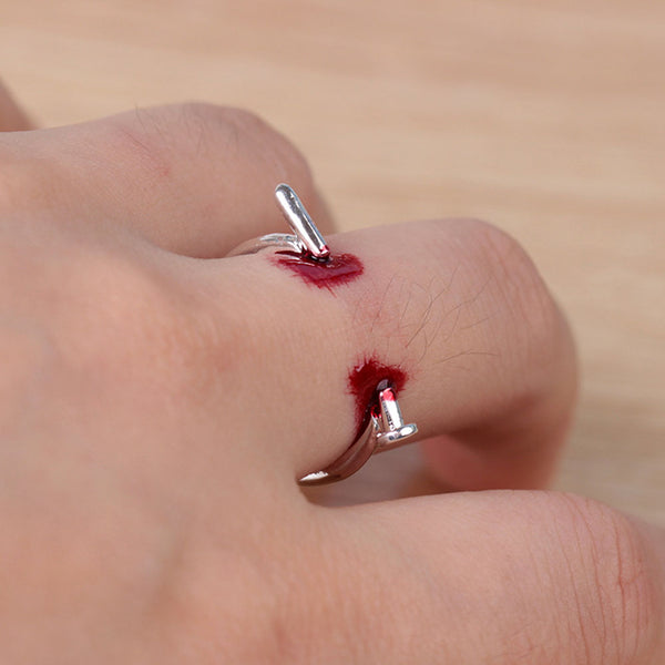 Bloody Nail Ring - Halloween Jewelry
