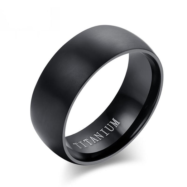 Popular Matte Titanium Rings For Men