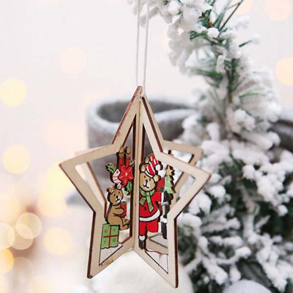 Wooden Christmas Tree Decoration Ornaments *3 beautiful patterns*