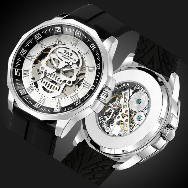 Luxury Fashion Mechanical Men's Skeleton Watch