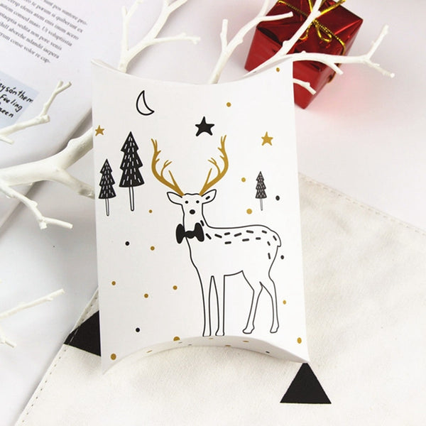Elegant Christmas Pillow Gift Boxes in White *4 Design*