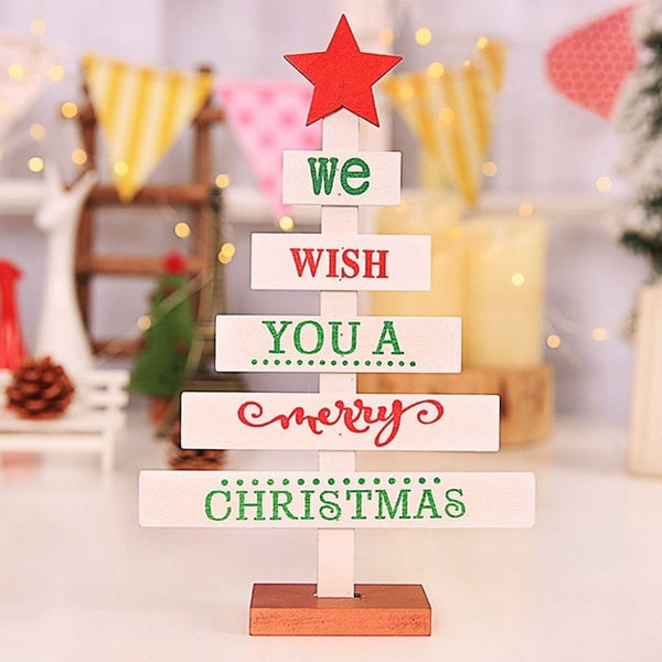 Mini Wooden Merry Christmas Decoration Tree *3 Designs*
