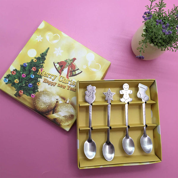 Quality Stainless Steel Christmas Spoon Set *4 pcs*