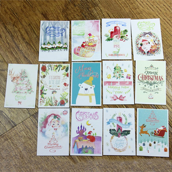 Mini Merry Christmas Greeting Card *2 boxes, 28 pcs*