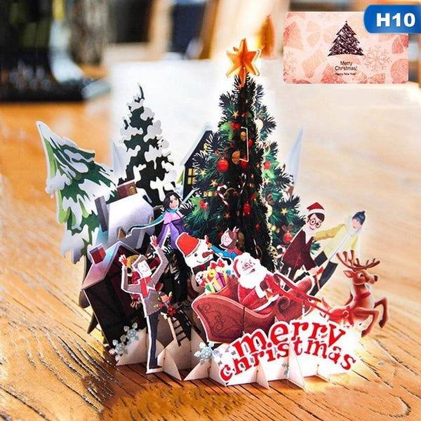 Amazing 3D Pop Up Merry Christmas Invitation Greeting Card *15 patterns*