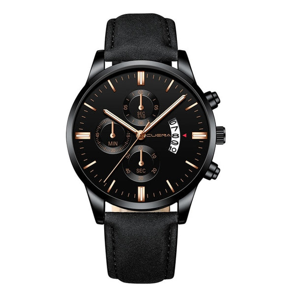 Brilliant Aura Leather Watch - Watch for Men