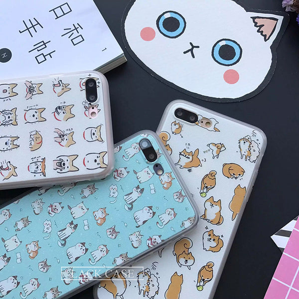 Hand Drawn Phone Covers for Dog Lovers - Assorted